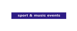 sport & music events
